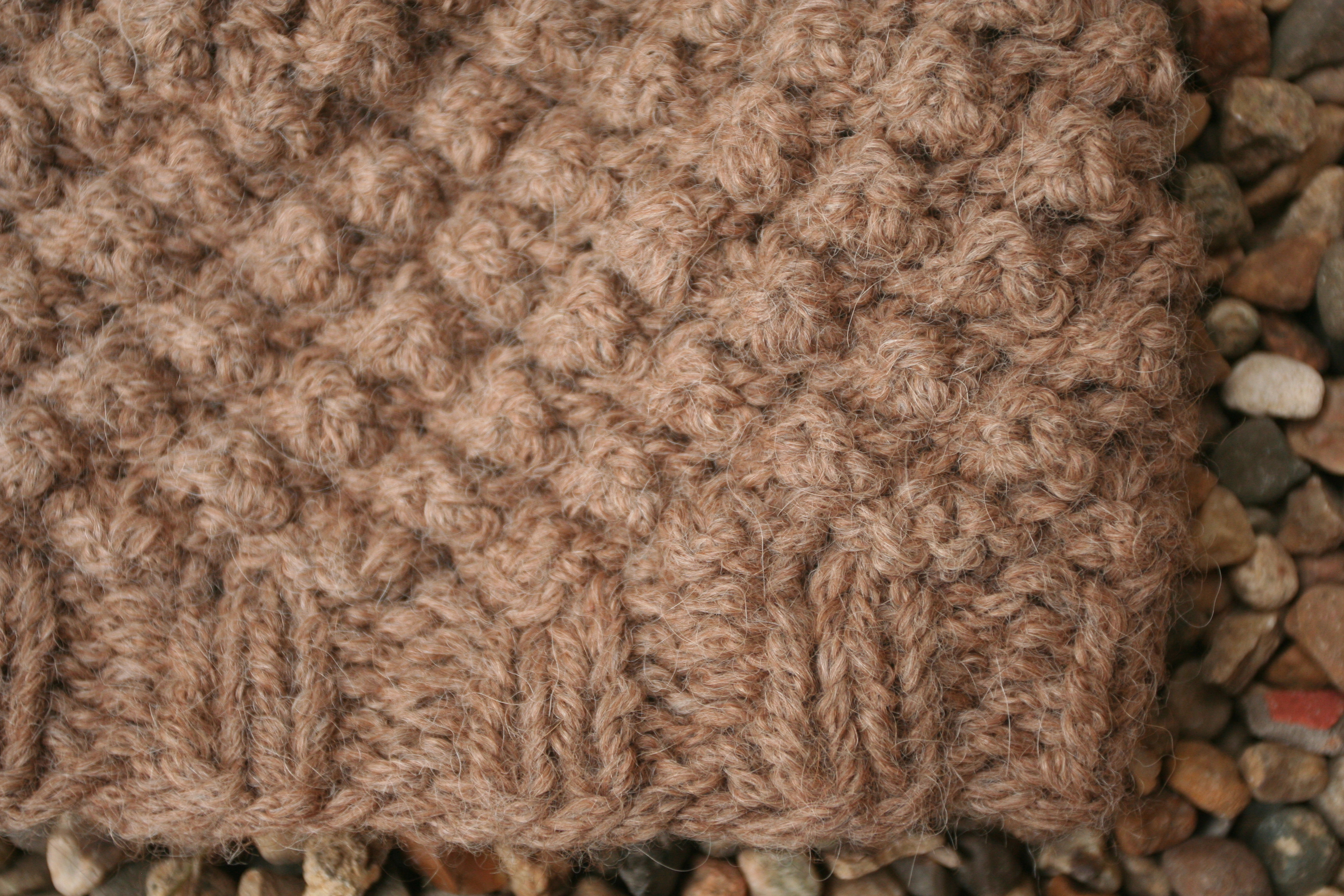 Knitting Stitches Yarn Back : pine cone hat living in the woods and making stuff